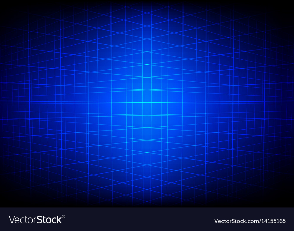 Abstract blue grid perspective technology vector image