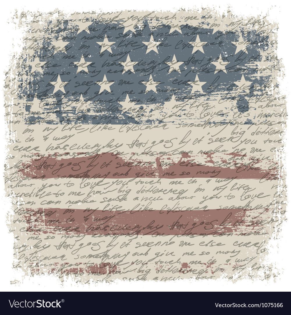 Vintage usa background isolate borders vector image