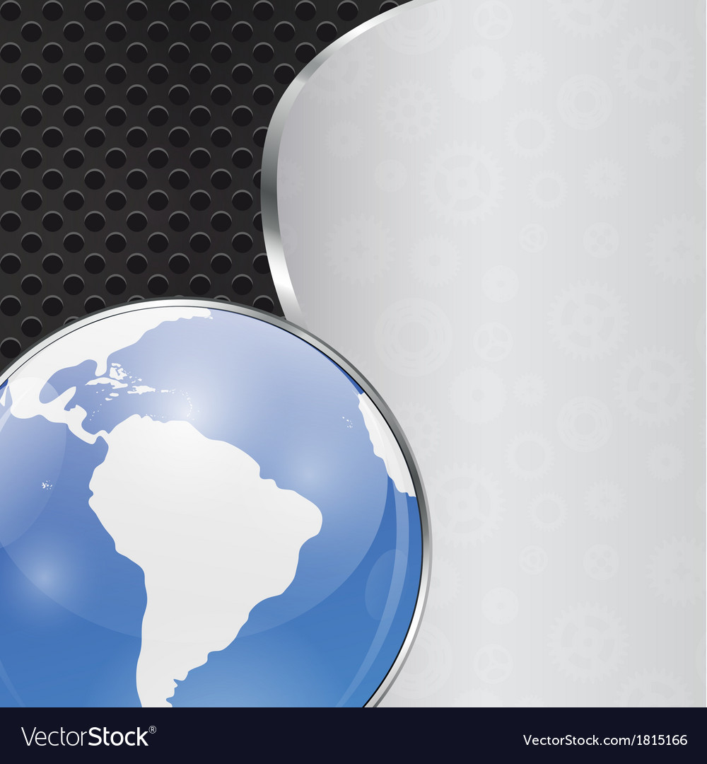 Abstract Background with Glass Globe Illistration vector image
