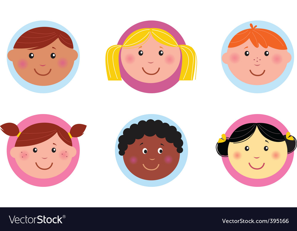 Cute kids vector image