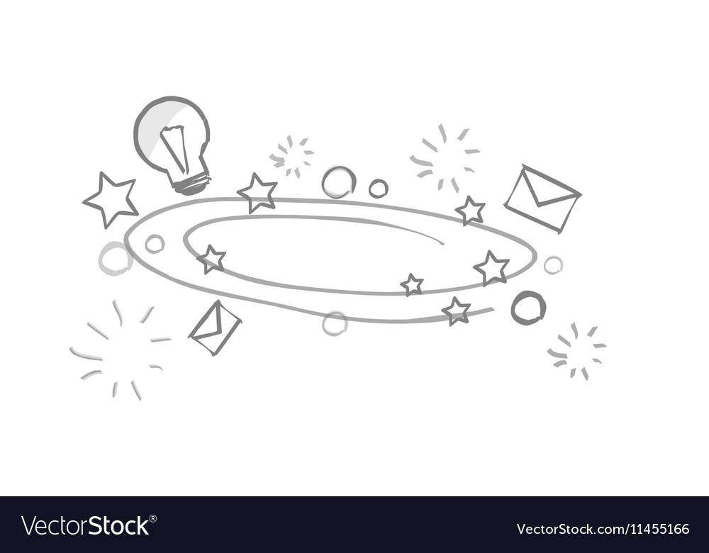 Hand Drawing Creative Background vector image