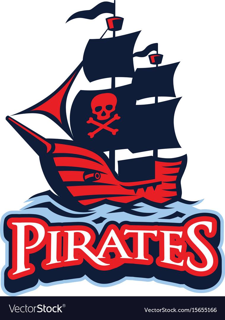 Pirate vessel mascot vector image