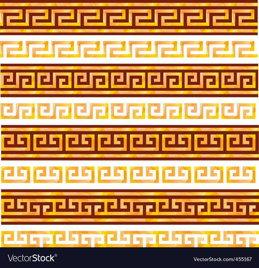 Ancient Greek ornaments vector image