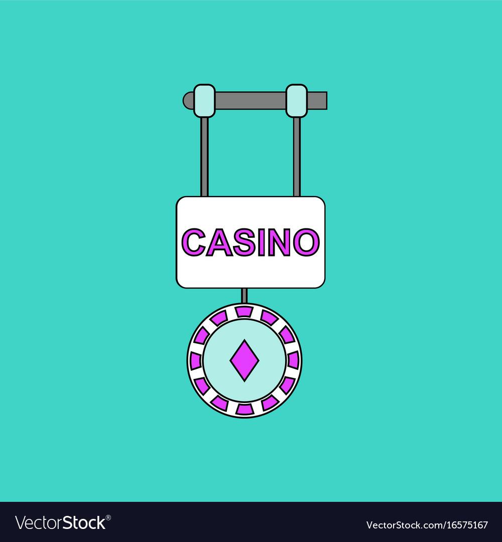 Gambling games flat banners set