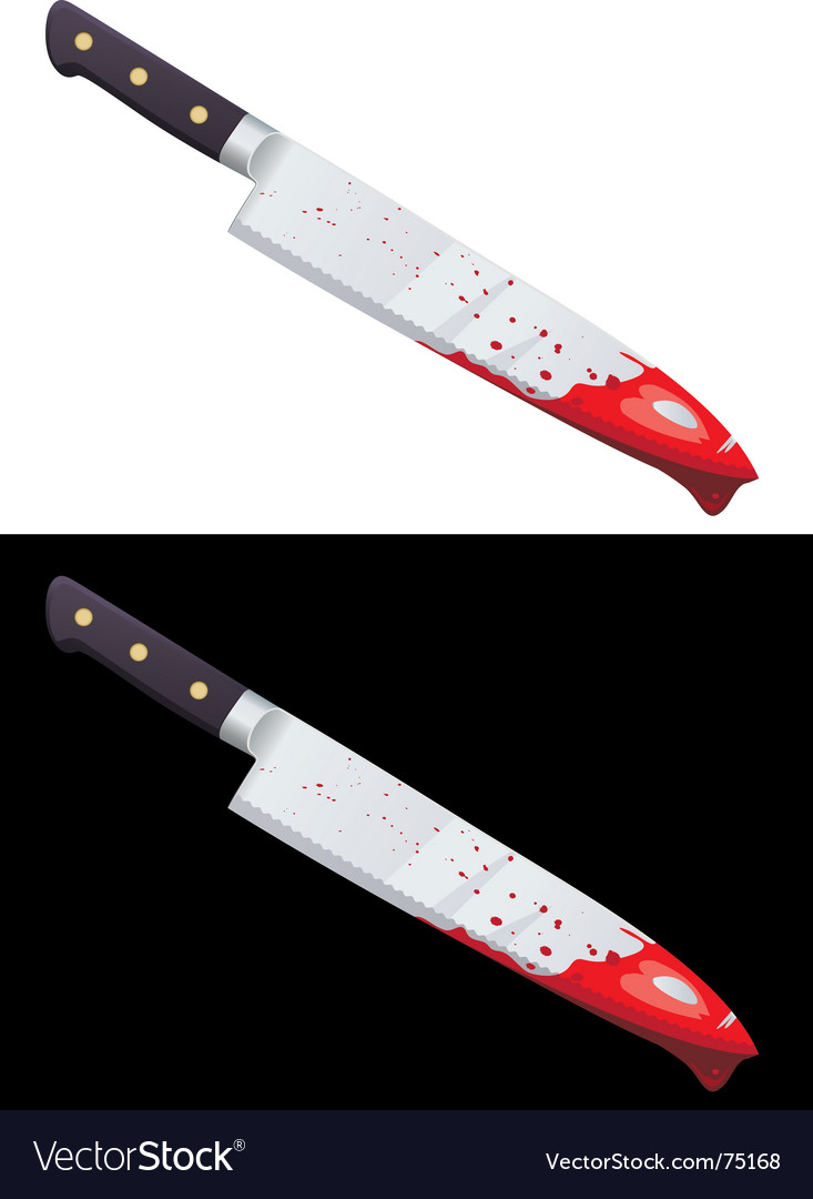 Bloody knife vector image