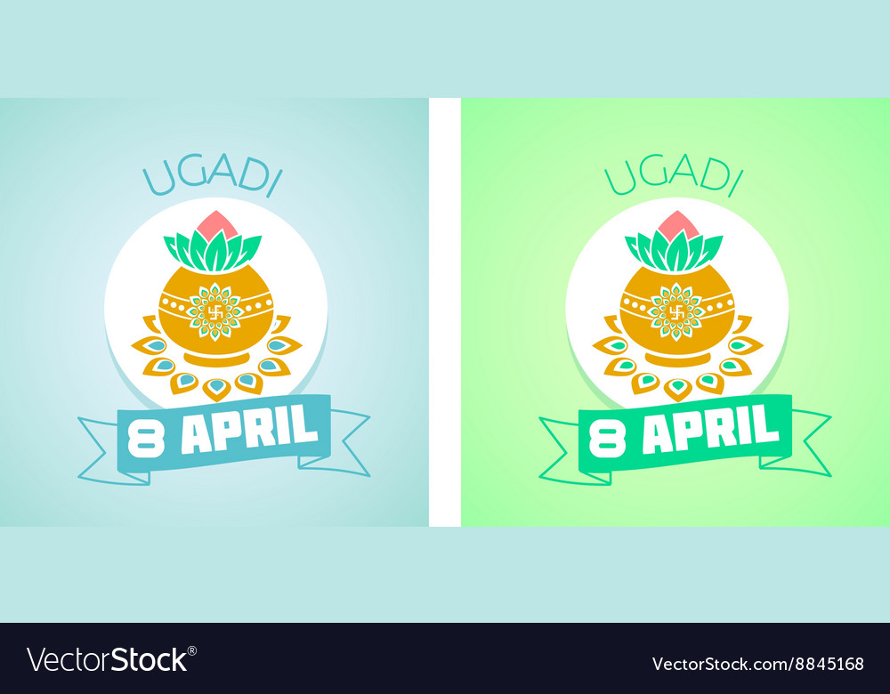 8 April ugadi vector image