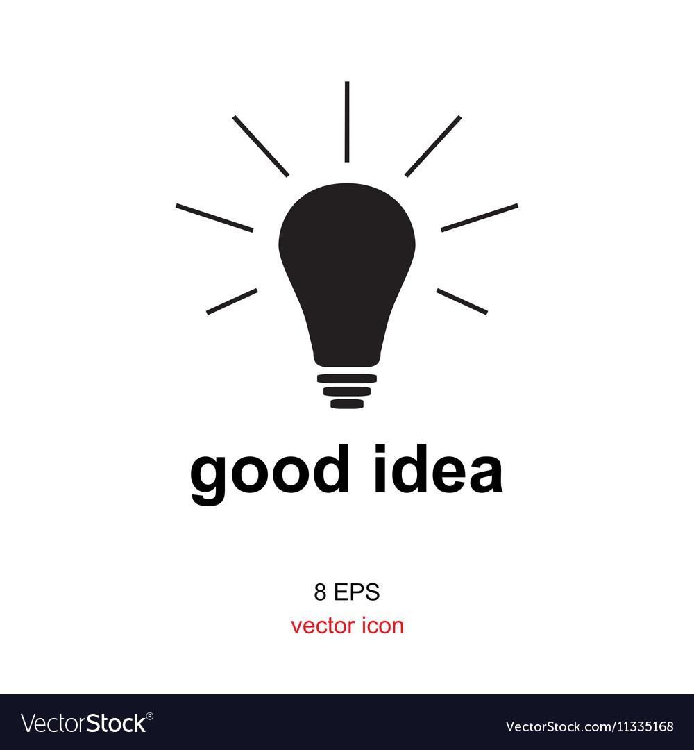 Exellent idea lamp icon vector image