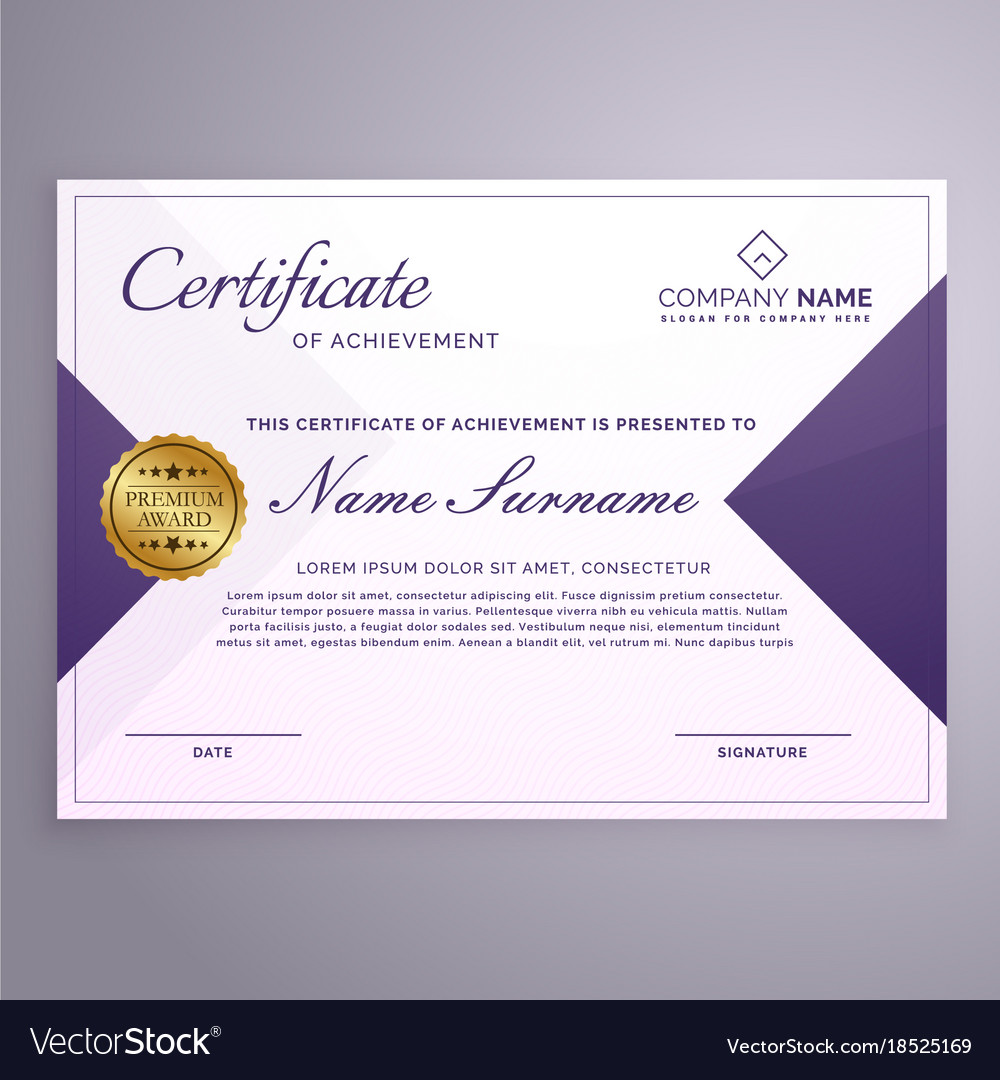 Minimal style certificate design template vector image yelopaper Images