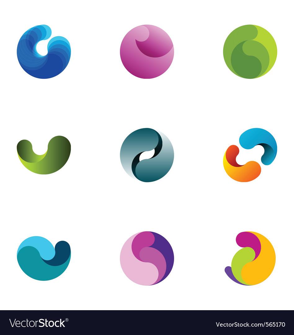 Logo design elements set 15 vector image