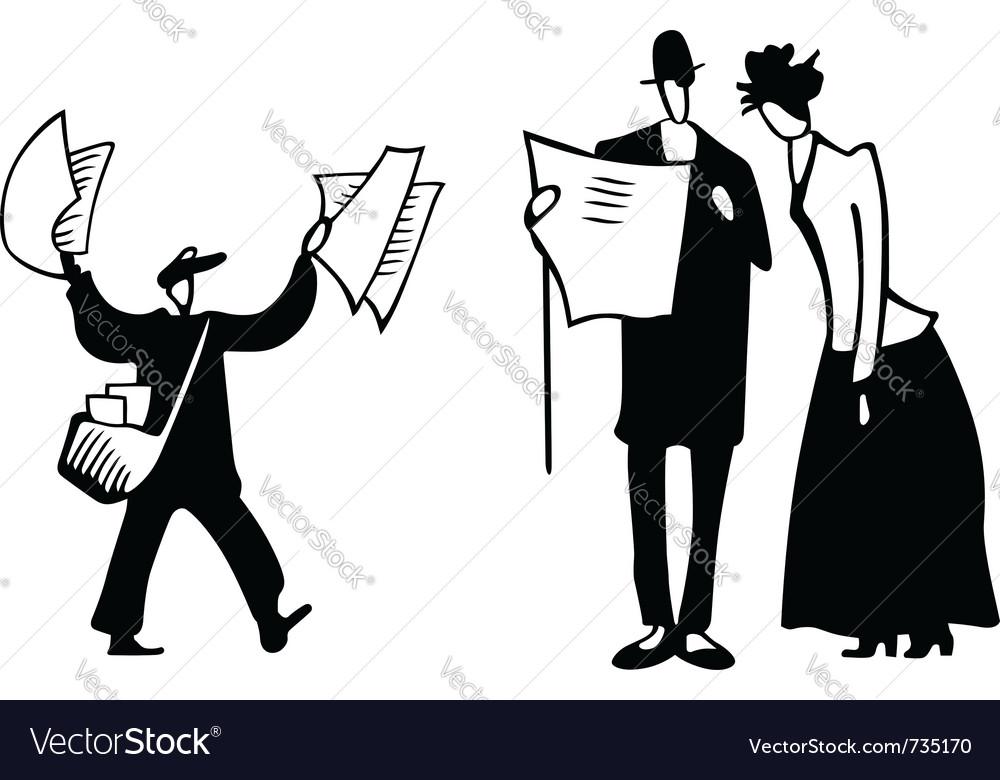 Paperboy scene vector image