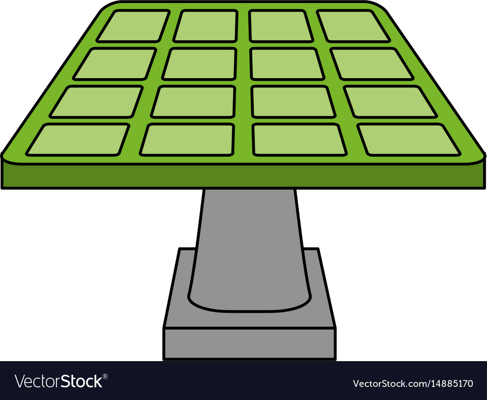 Color image cartoon solar energy panel on platform vector image