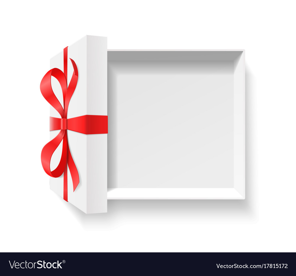 Empty open gift box with red color bow knot and vector image empty open gift box with red color bow knot and vector image negle Choice Image