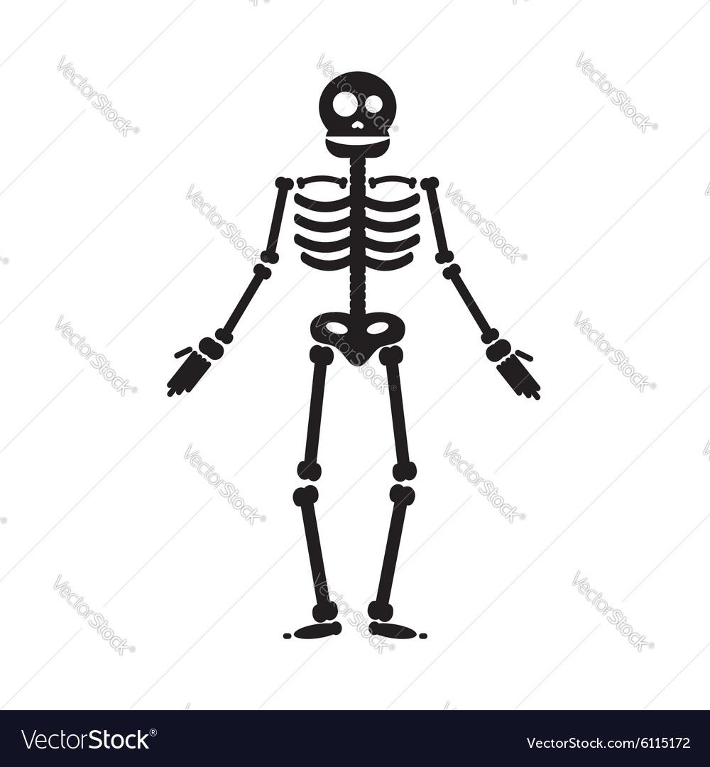 Happy Halloween skeleton Royalty Free Vector Image