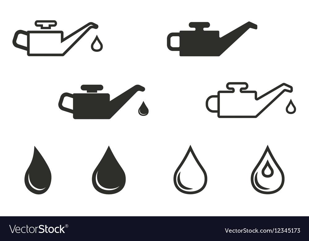 Oil icon set vector image