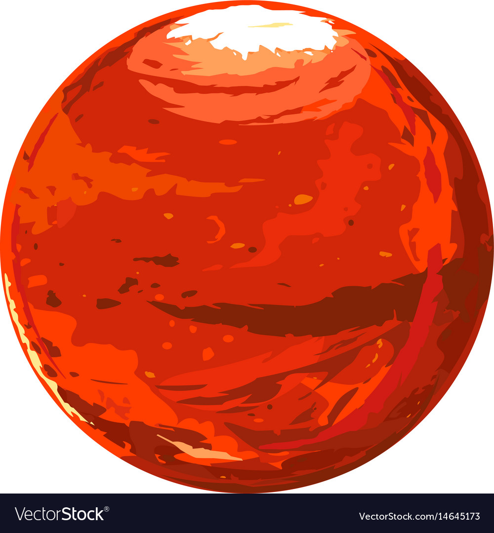 one full planet mars royalty free vector image planets clip art images plants clip art free