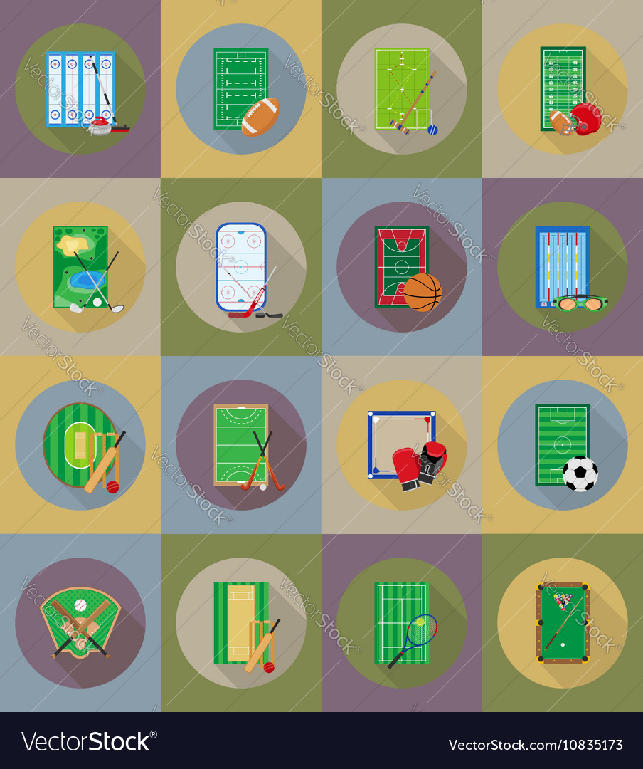 Sport flat icons 79 vector image