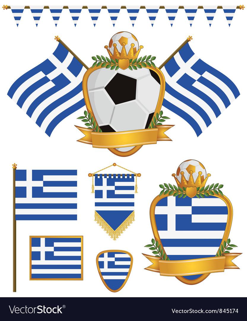 Greece flags vector image