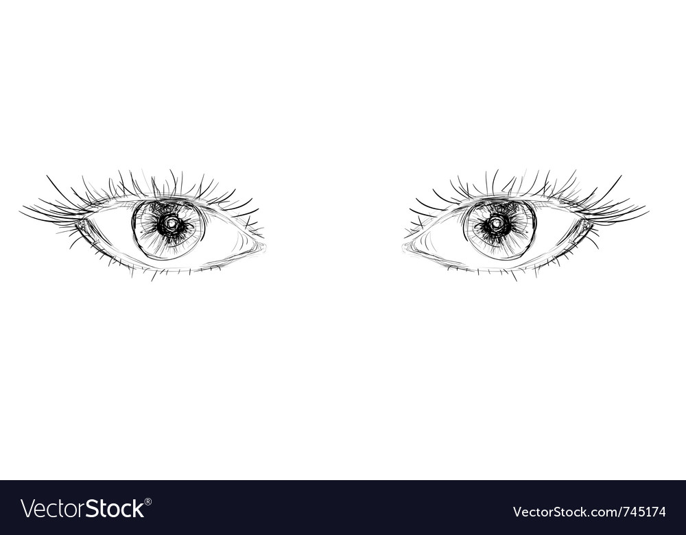 Eyes hand drawn vector image