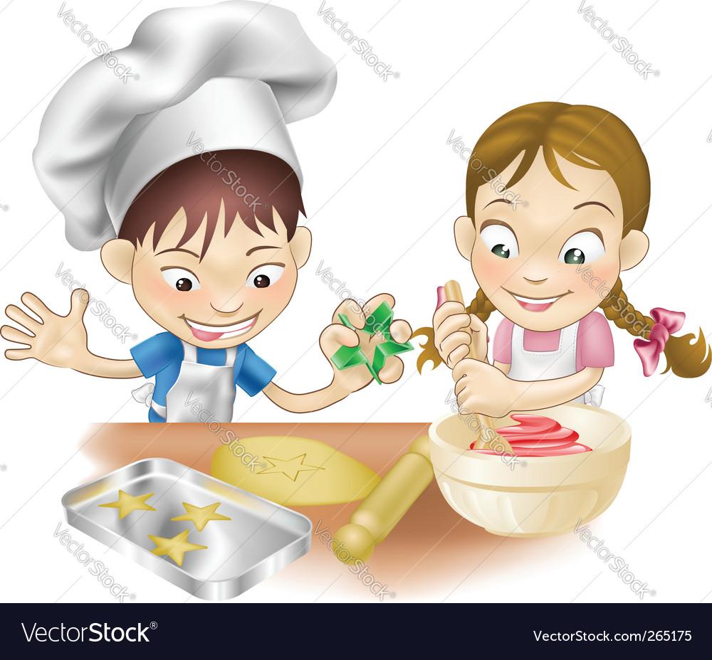 Kitchen fun vector image