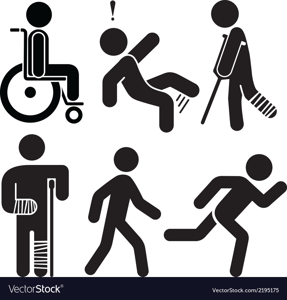 Injured Stick Figures vector image
