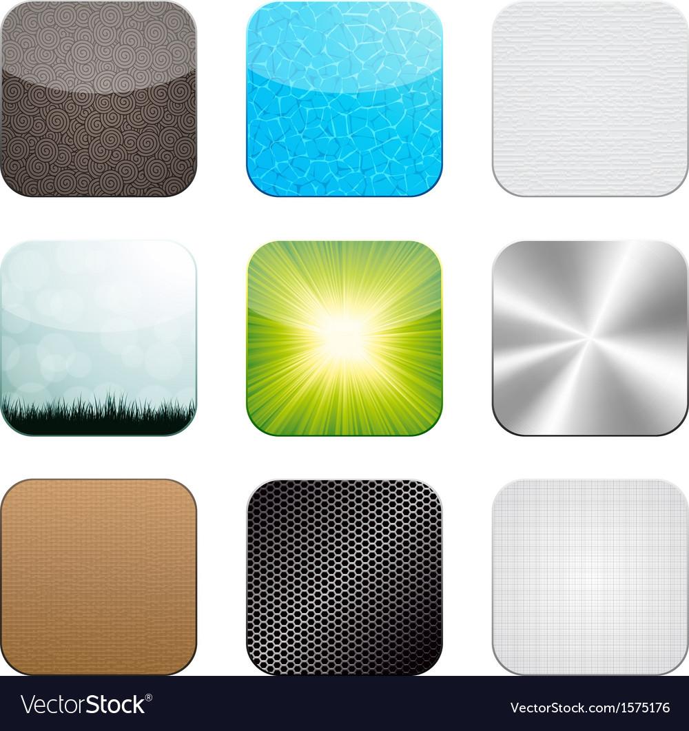 App icon set vector image