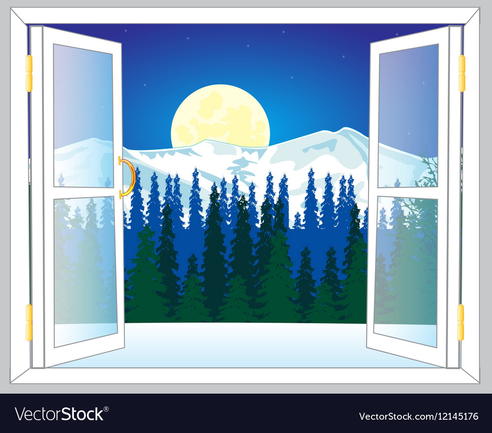 Beautiful view from window vector image