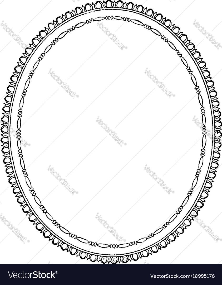 vintage frame design oval. Vintage Frame Design Oval A
