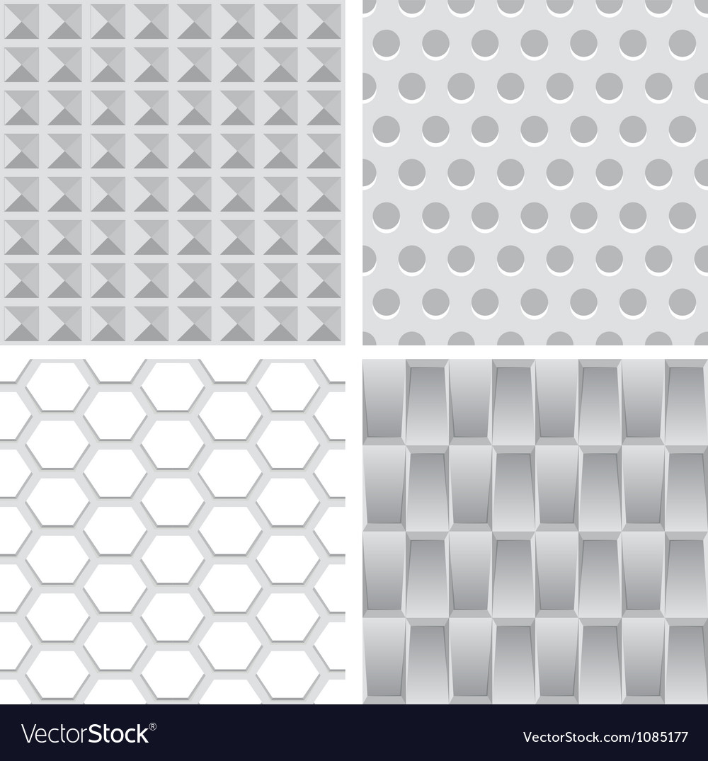 Set with light textures Vector Image