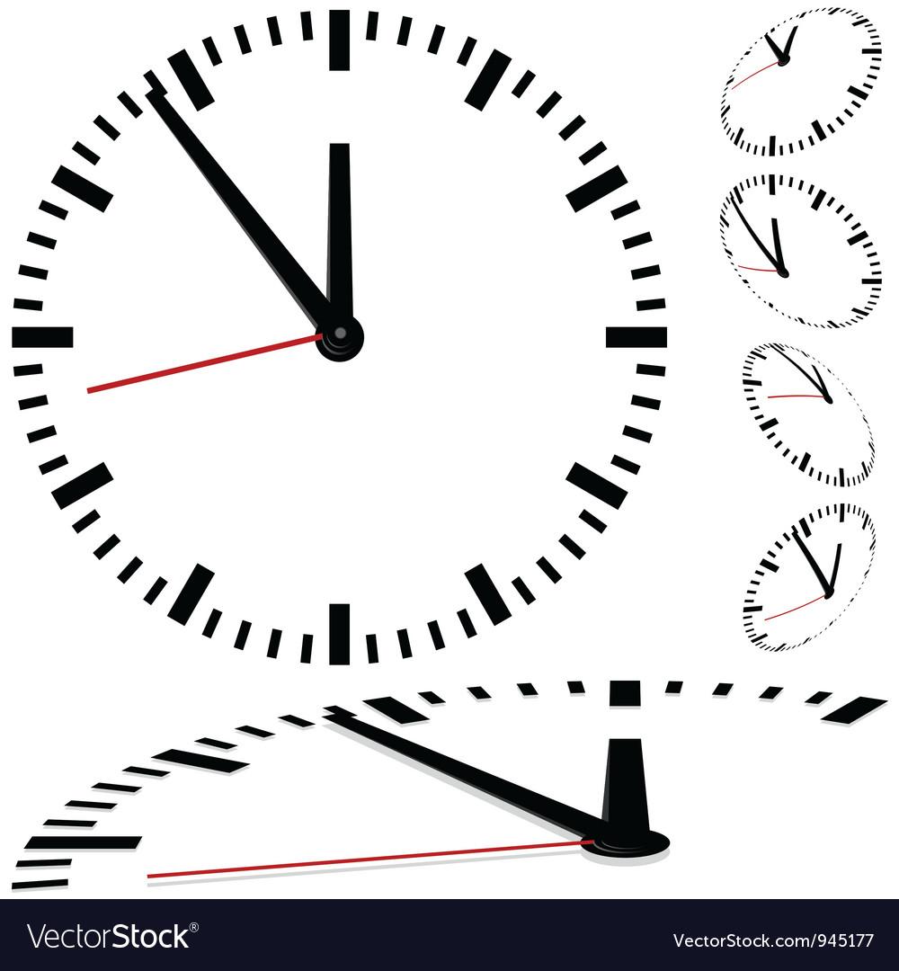 Dial Clock vector image