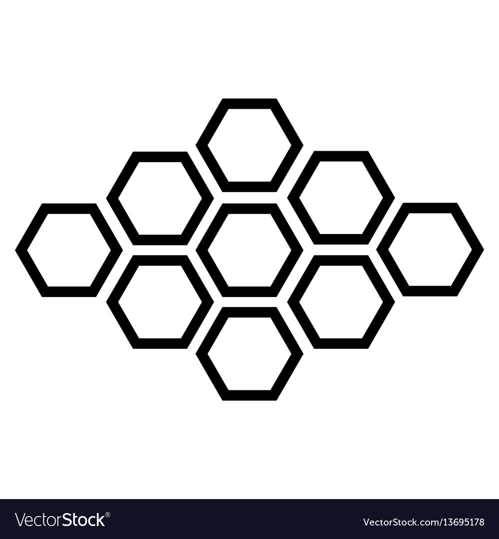 Black hexagonal icon on white background vector image