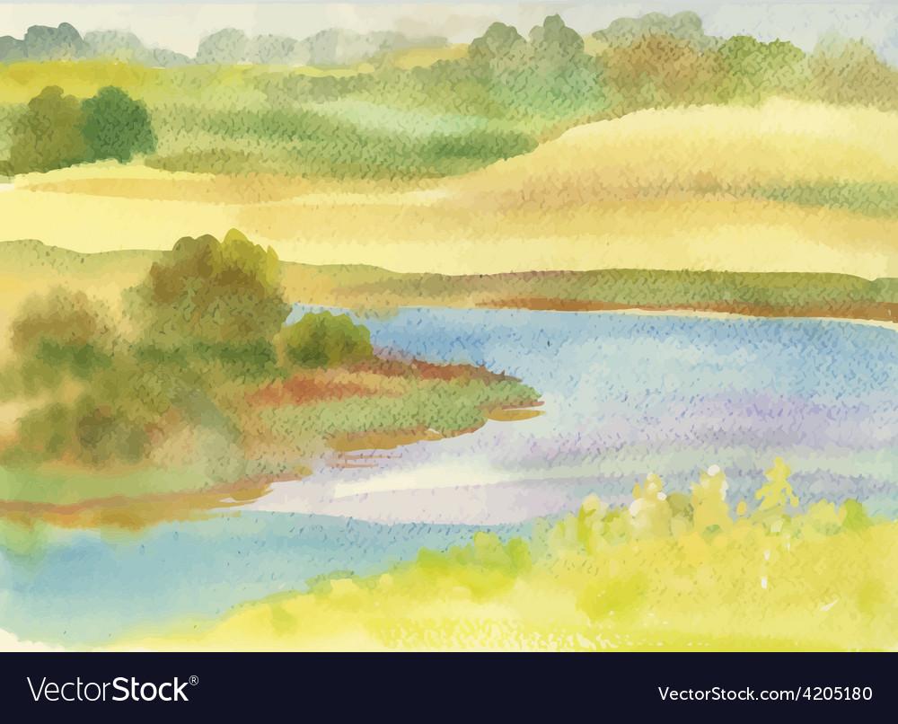 Artistic landscape design Royalty Free Vector Image - VectorStock