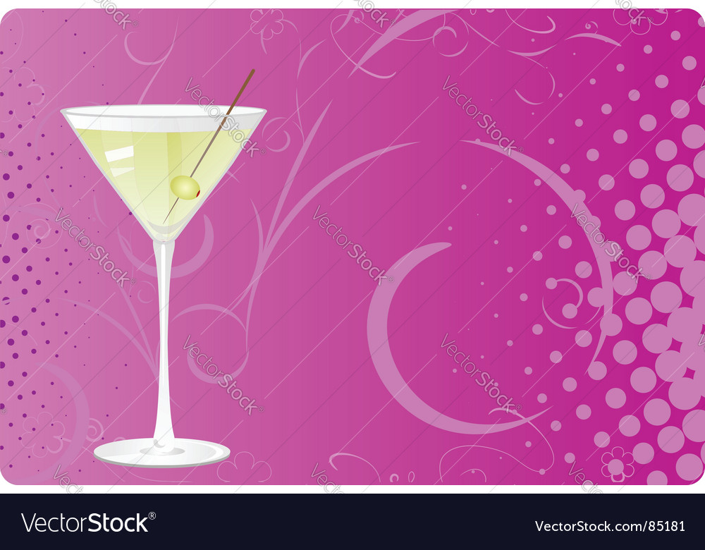 Martini background vector image