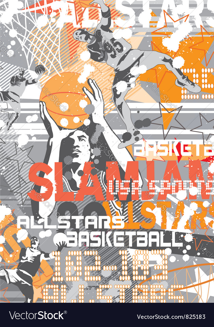 Basketball SlamJam vector image