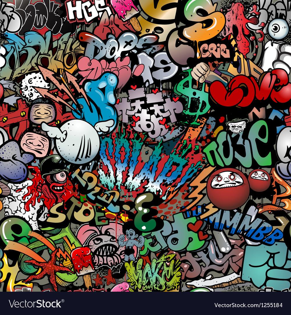 Graffiti on wall streetart background Vector Image