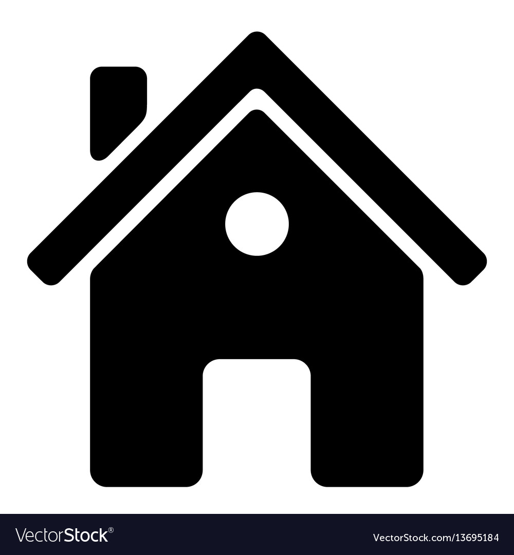 Black house icon on white background vector image
