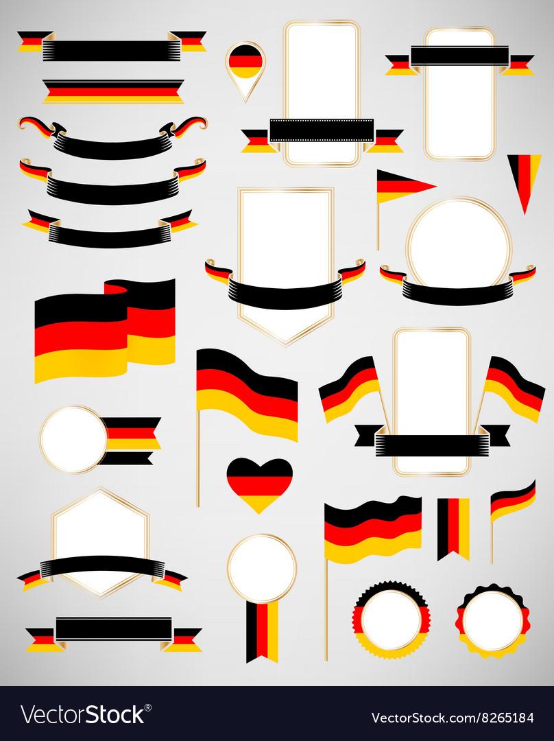 Germany flag decoration elements vector image