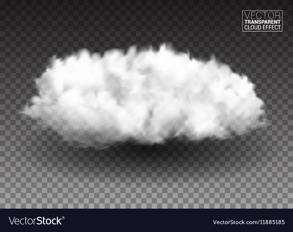Fluffy white clouds Realistic design elements vector image