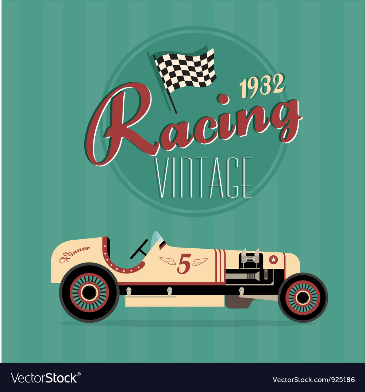 Vintage sport racing cars Vector Image