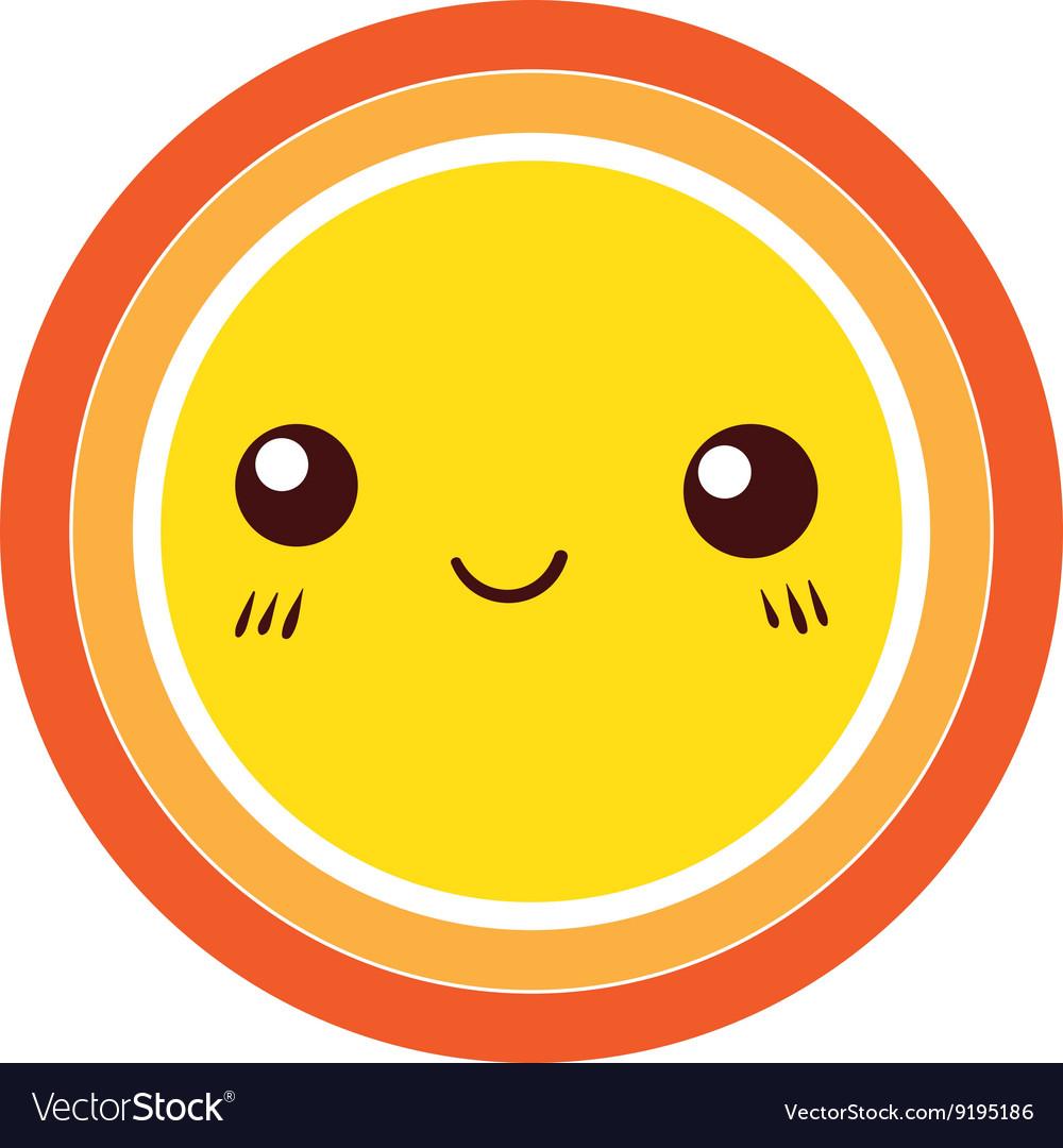 Cute Colorful Sun icon design element vector image