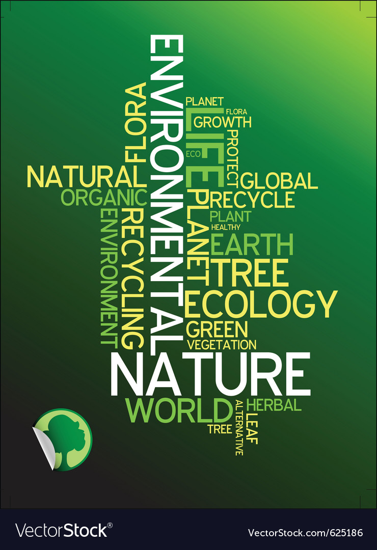Environmental poster vector image