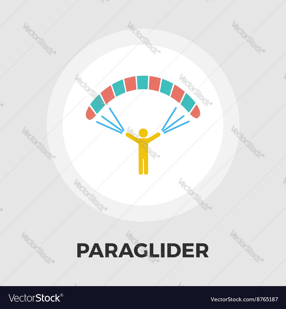 Paraglider icon flat vector image