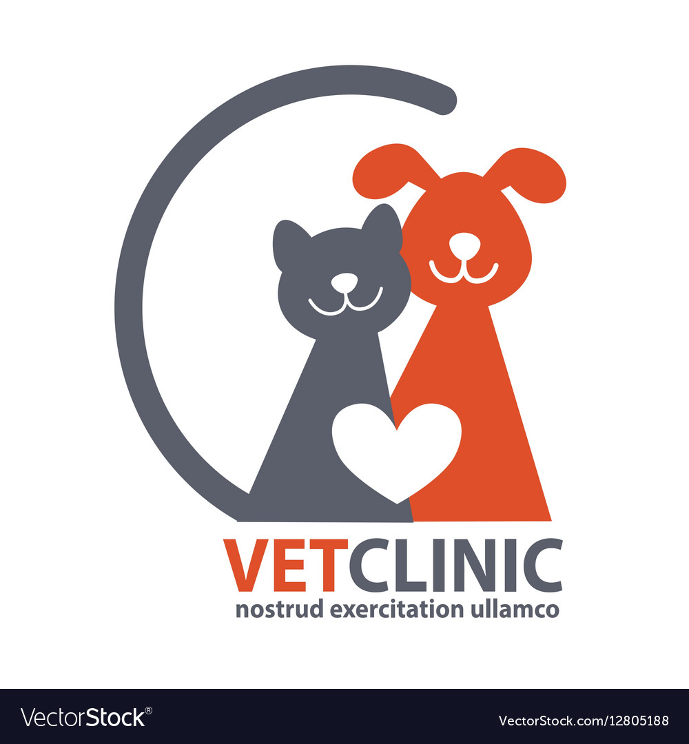 Veterinary Clinic logo with the image of pet vector image
