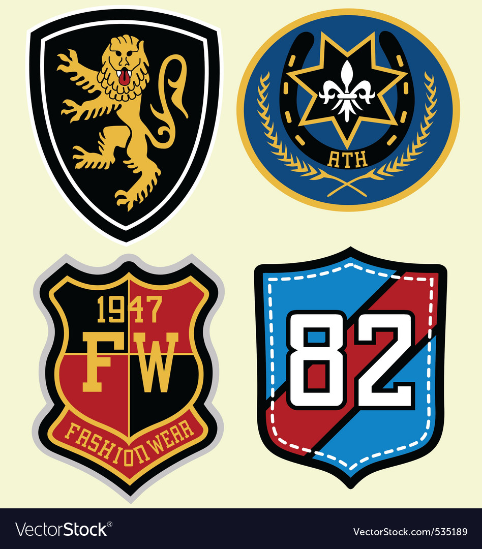 Emblem badge design vector image