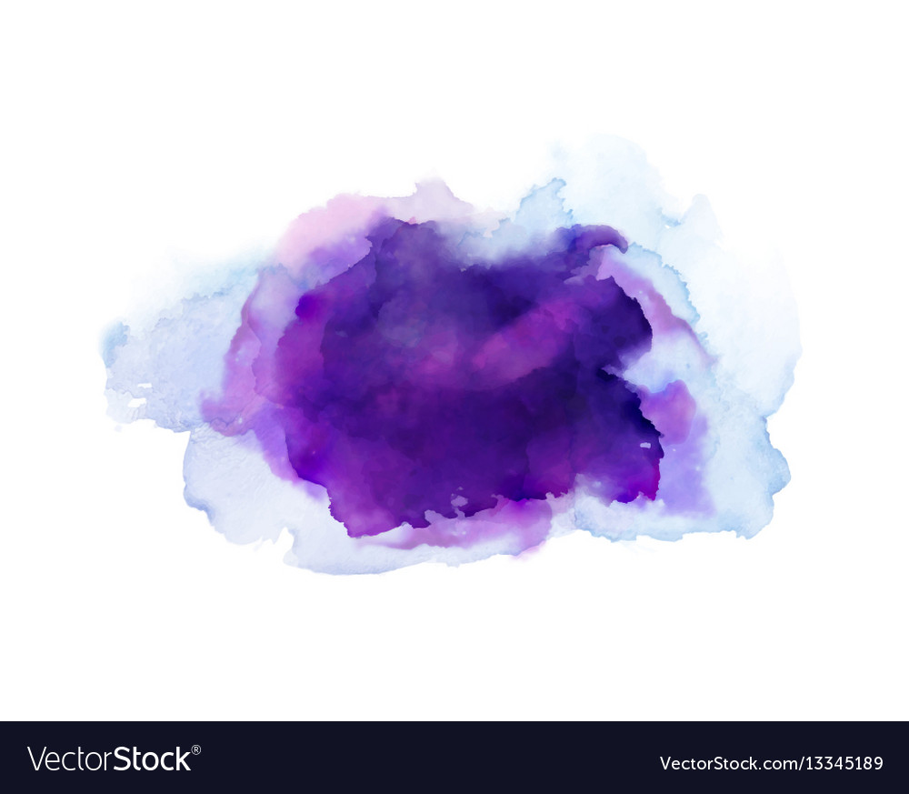 Purple violet lilac and blue watercolor stains vector image