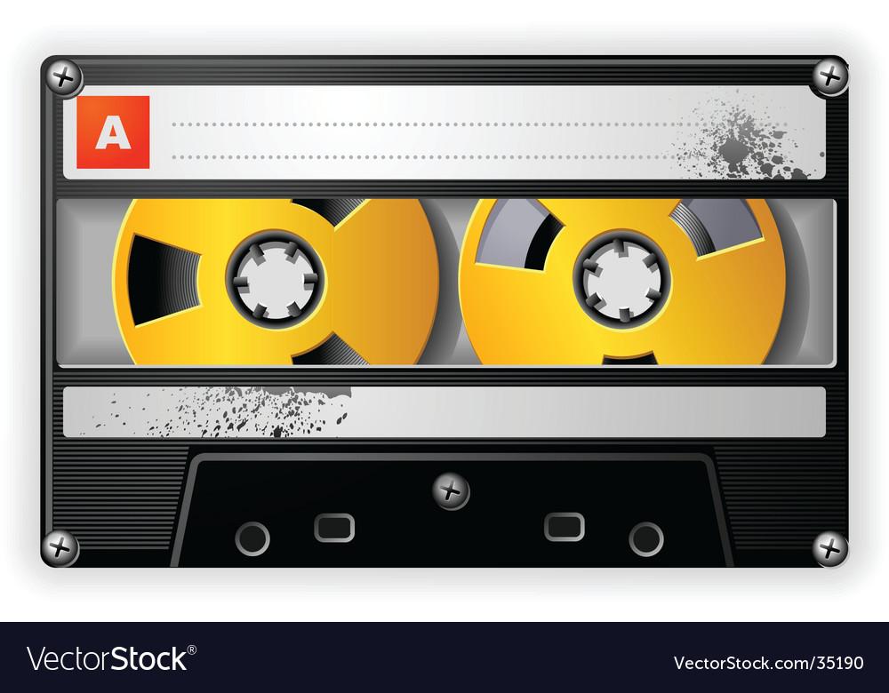 Audio tape cassette vector image