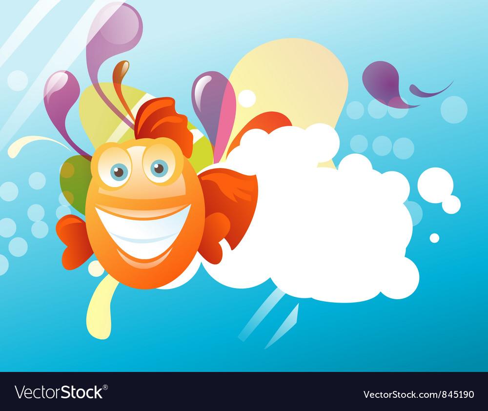 funny fish royalty free vector image vectorstock