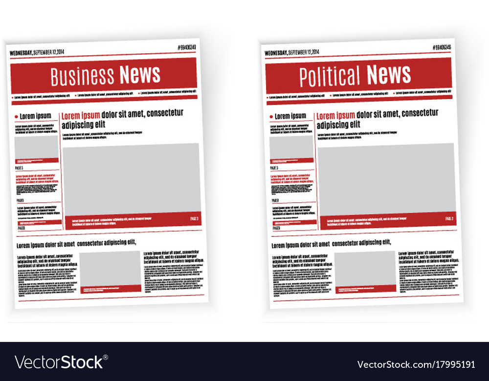 headline news template