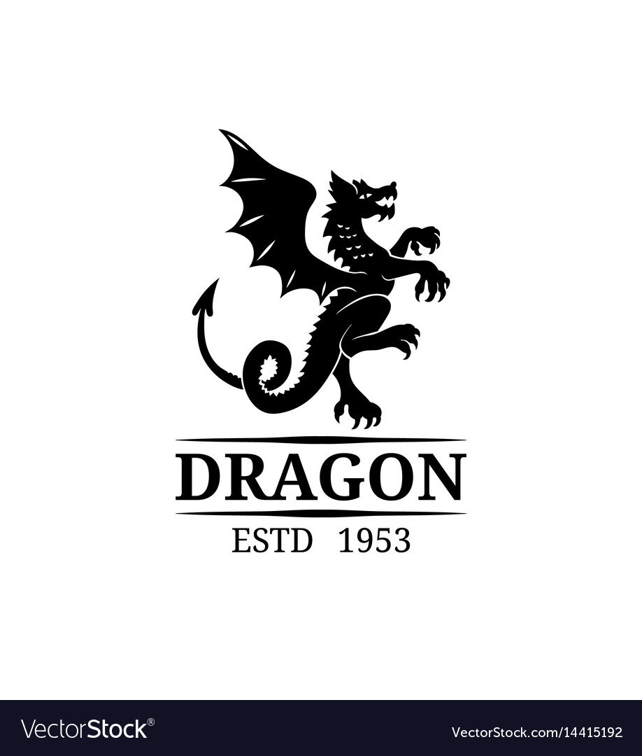 Dragon logo template luxury monogram vector image