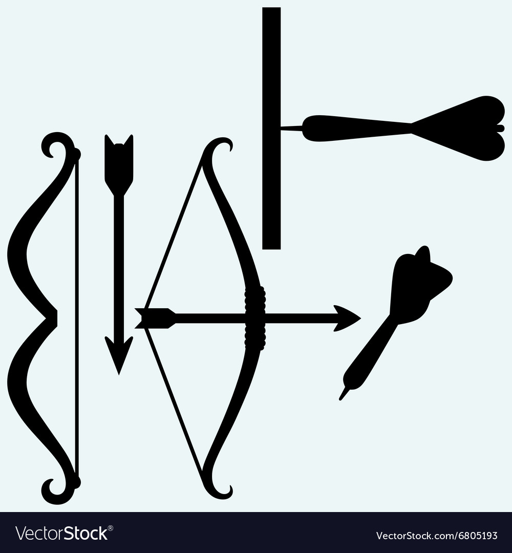 Shooting with a bow target and arrows vector image