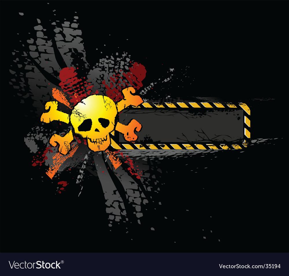 Skull banner vector image
